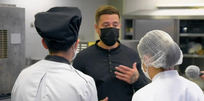 Florian Barbarot parrain des jeunes cuisiniers du lycée Jules Le Cesne - Le Havre
